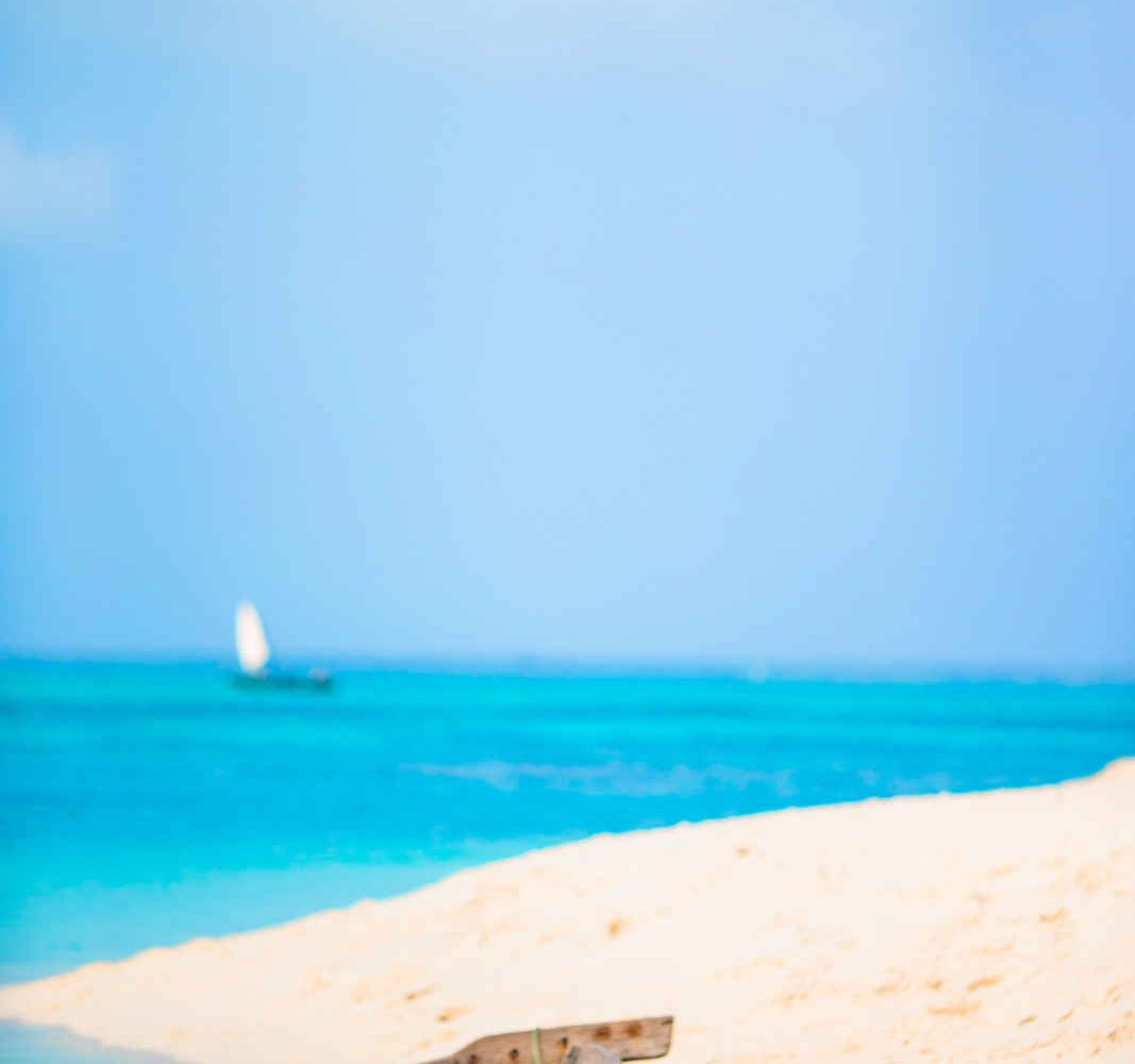 Barque sur une plage, Zanzibar