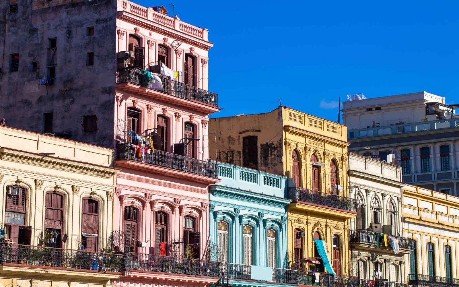 Façades d'immeubles, La Havane, Cuba