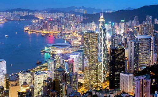 Hong Kong de nuit, Chine