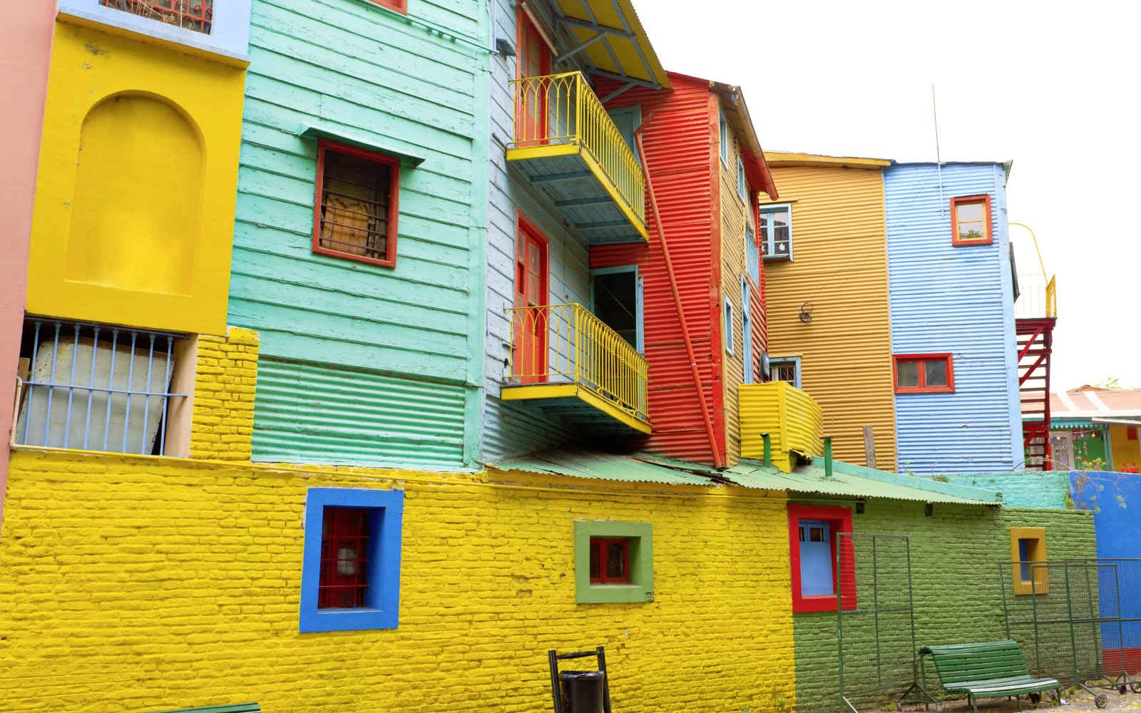 Caminito street, quartier de La Boca, Buenos Aires, Argentine