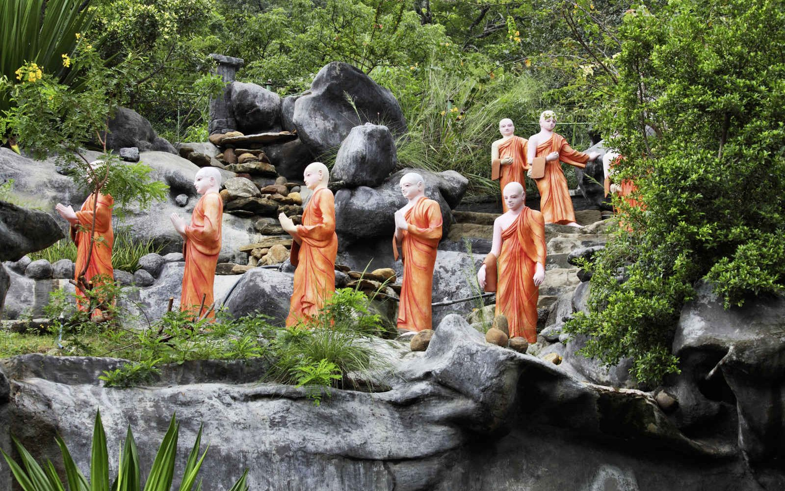 Statues of Buddhist Monks, Sri Lanka