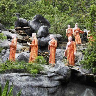 Statues of Buddhist Monks, Sri Lanka