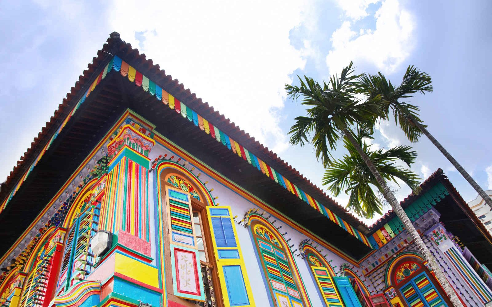 Maison dans le quartier de Little India, Singapour