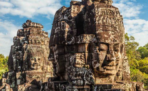 Visage, Château Bayon, Angkor Thom, Cambodge