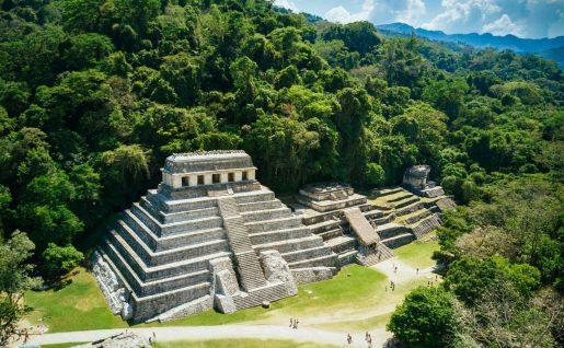 Pyramides du site de Palenque, Mexique