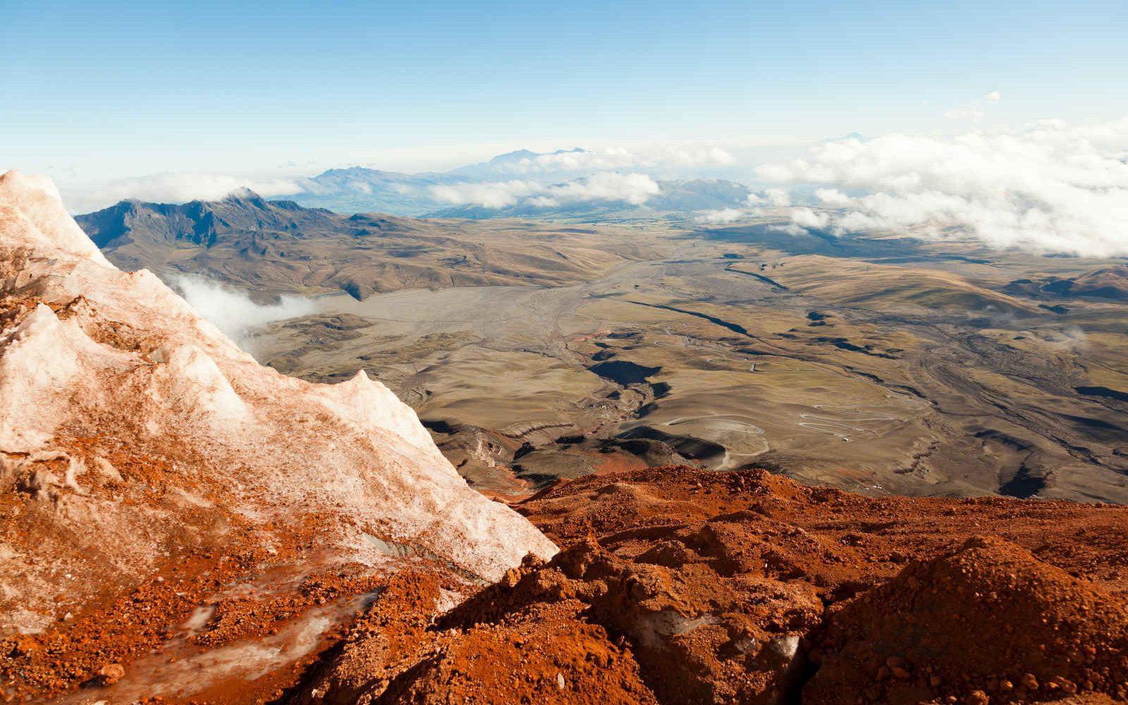 Au bord du glacier, Volcan Cotopaxi, Equateur