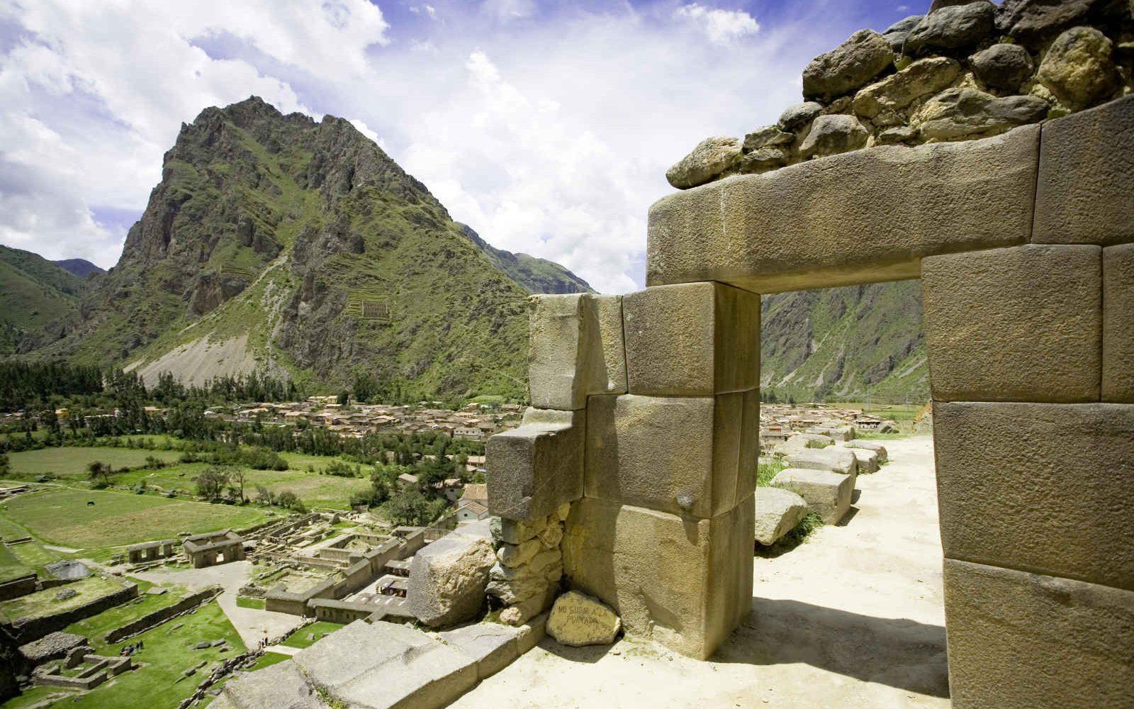 Incan ruins of Ollantaytambo, Peru