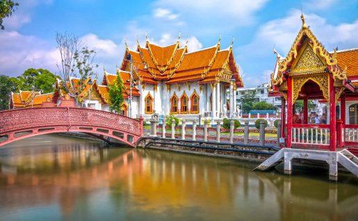 Temple Wat Benchamabophit Dusit Wanaram, Bangkok, Thaïlande