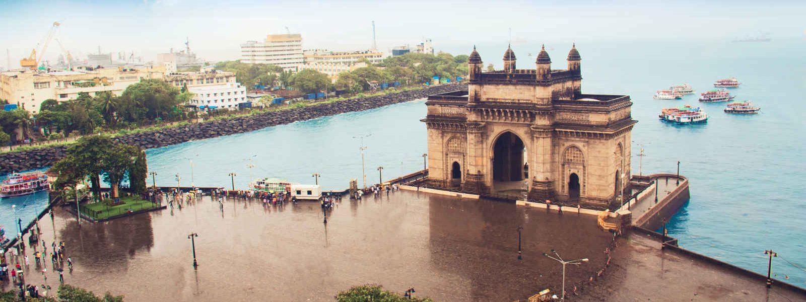 Vu aérienne, Porte de l'Inde, Bombay, Inde
