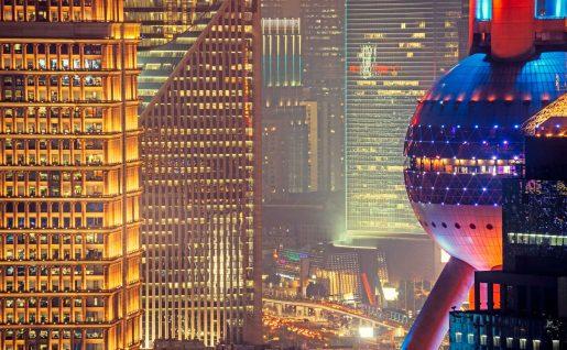 Lumières urbaines de Shanghai, Chine