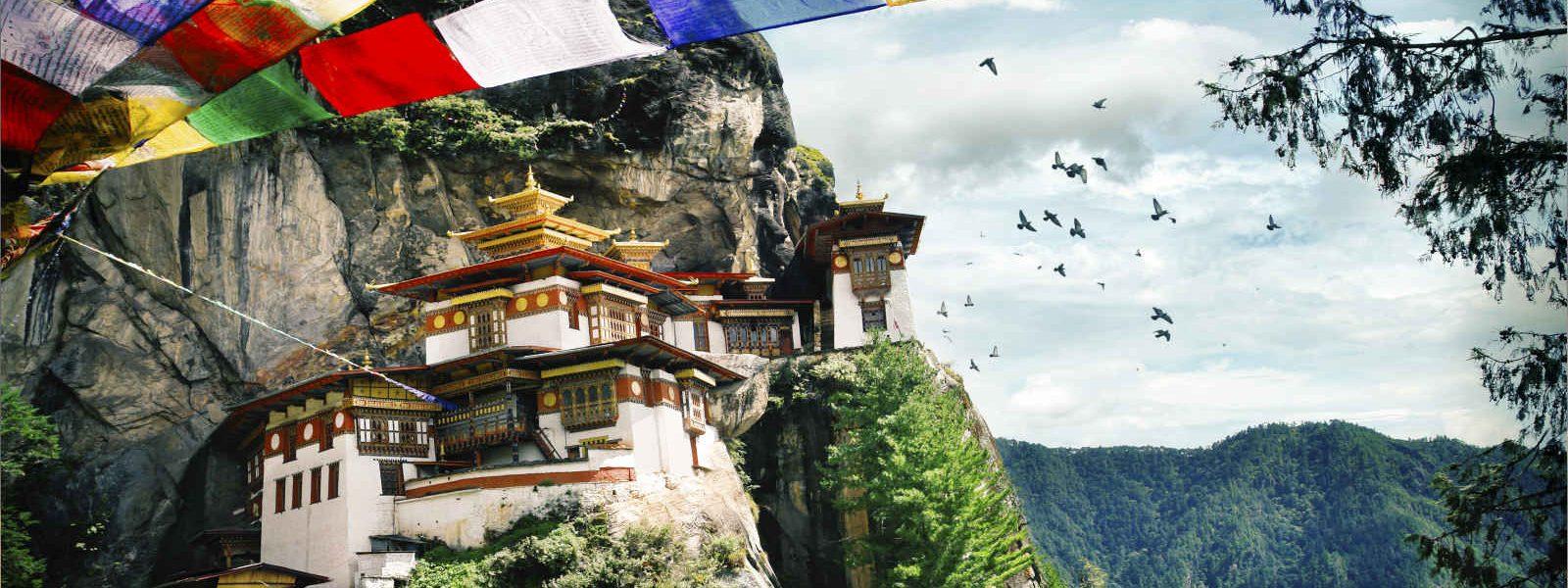 """La """"tanière du Tigre"""", Monastère de Taktshang, Paro, Bhoutan"""