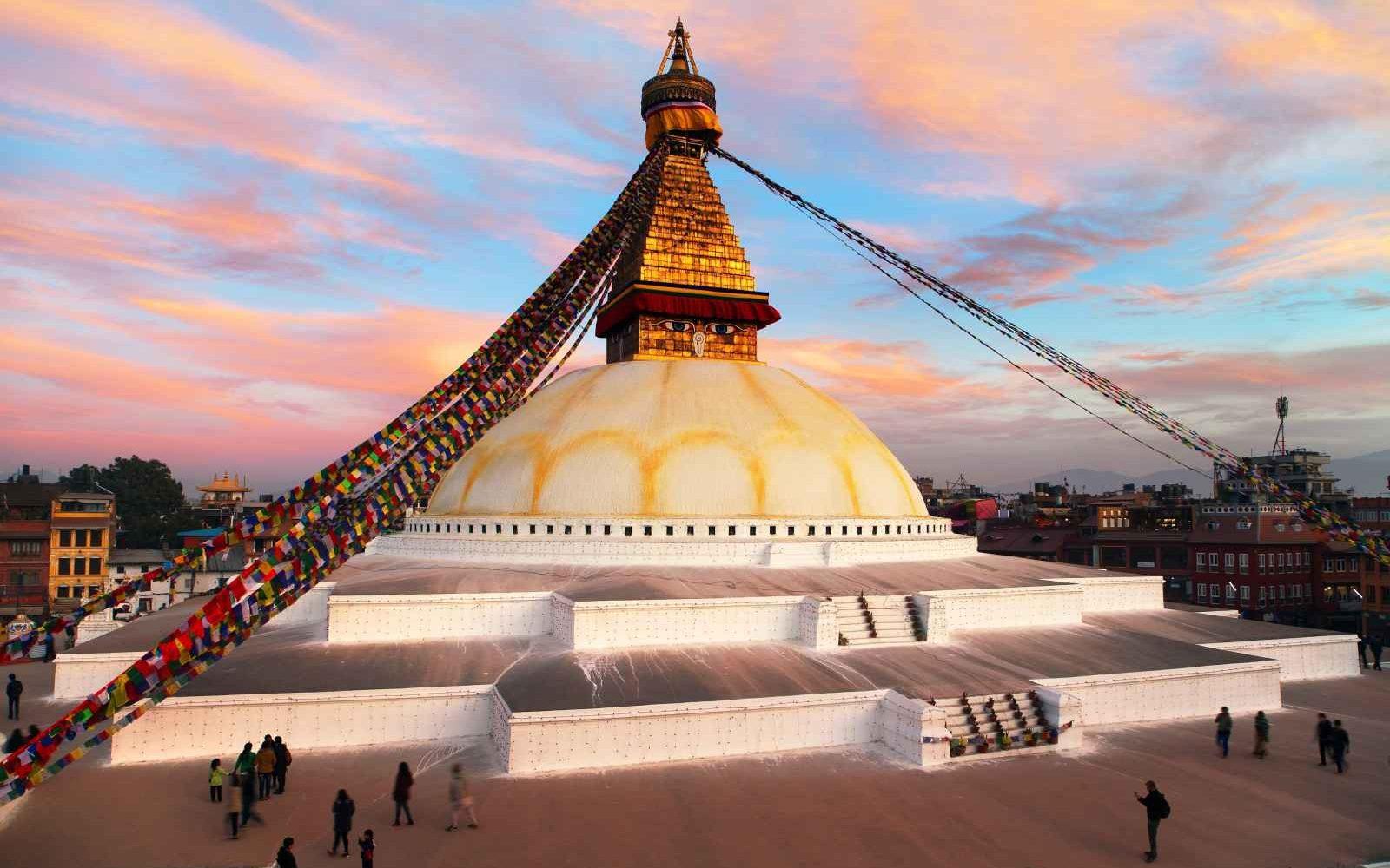Bodhnath Stupa, Kathmandu, Népal