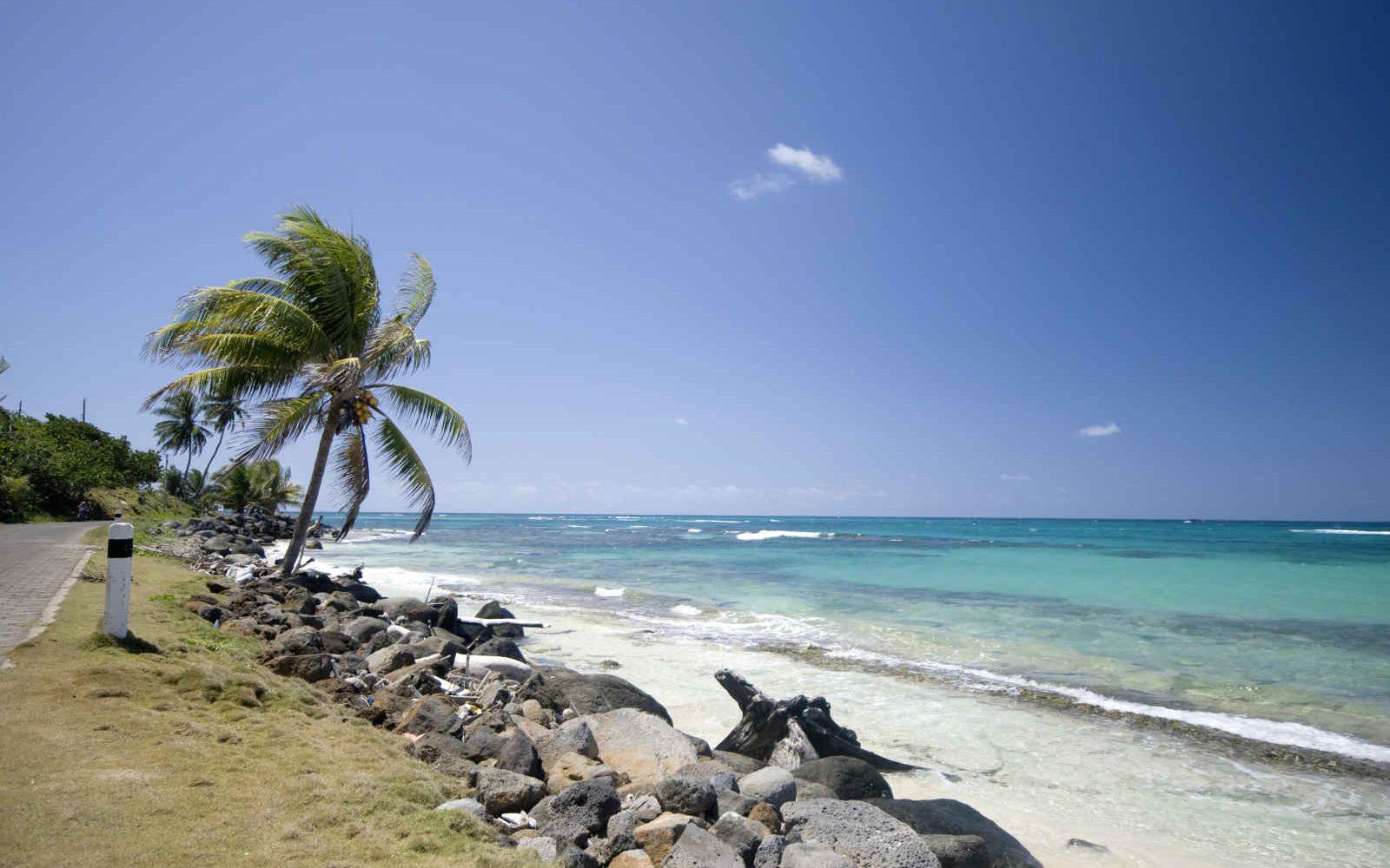 Road Sallie Peachie Beach, Corn Island , Nicaragua