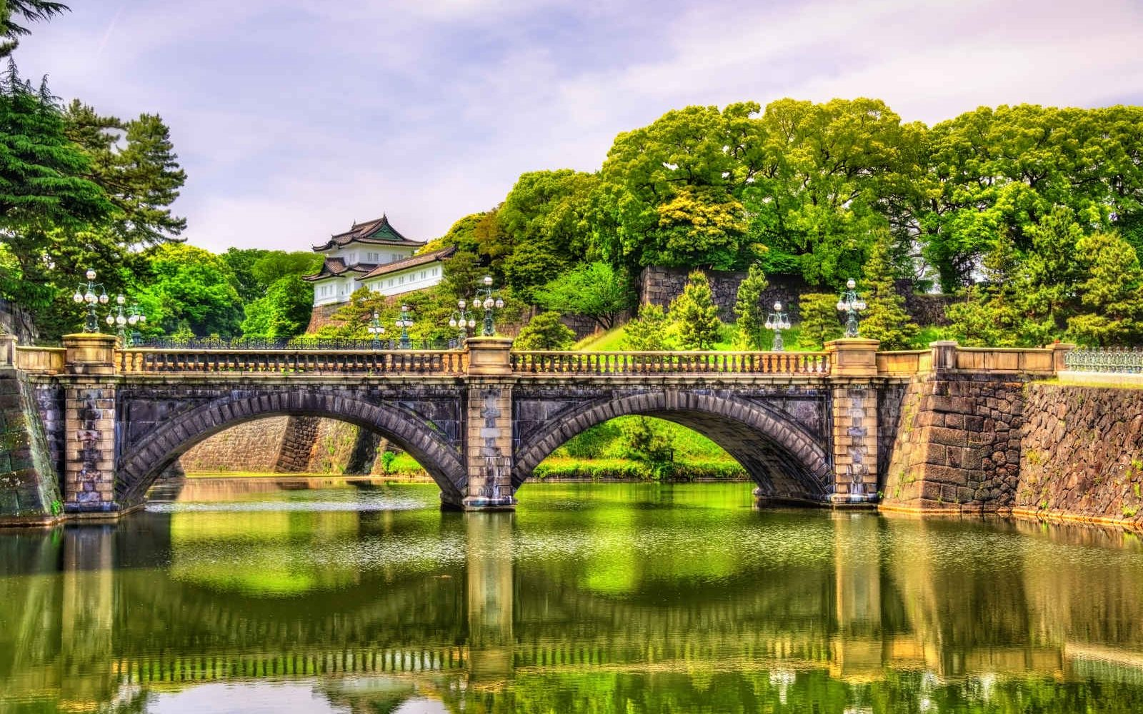 Pont Nijubashi du Palais Impérial, Tokyo, Japon