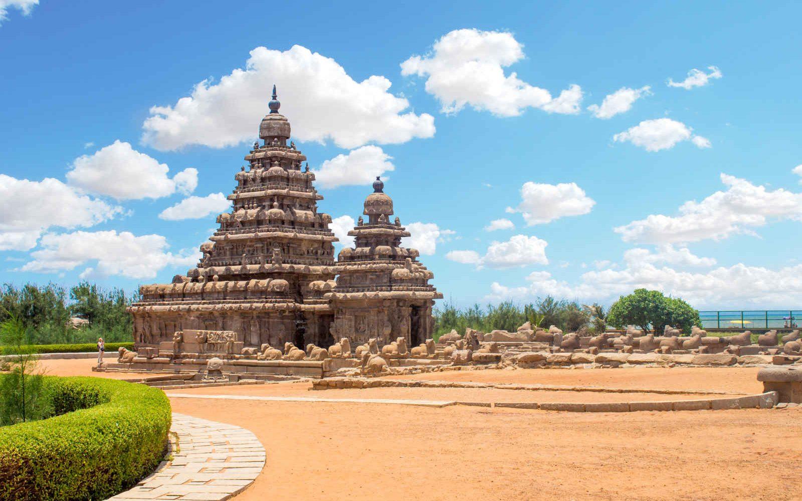 Temple sur la plage, Mahabalipuram, Inde