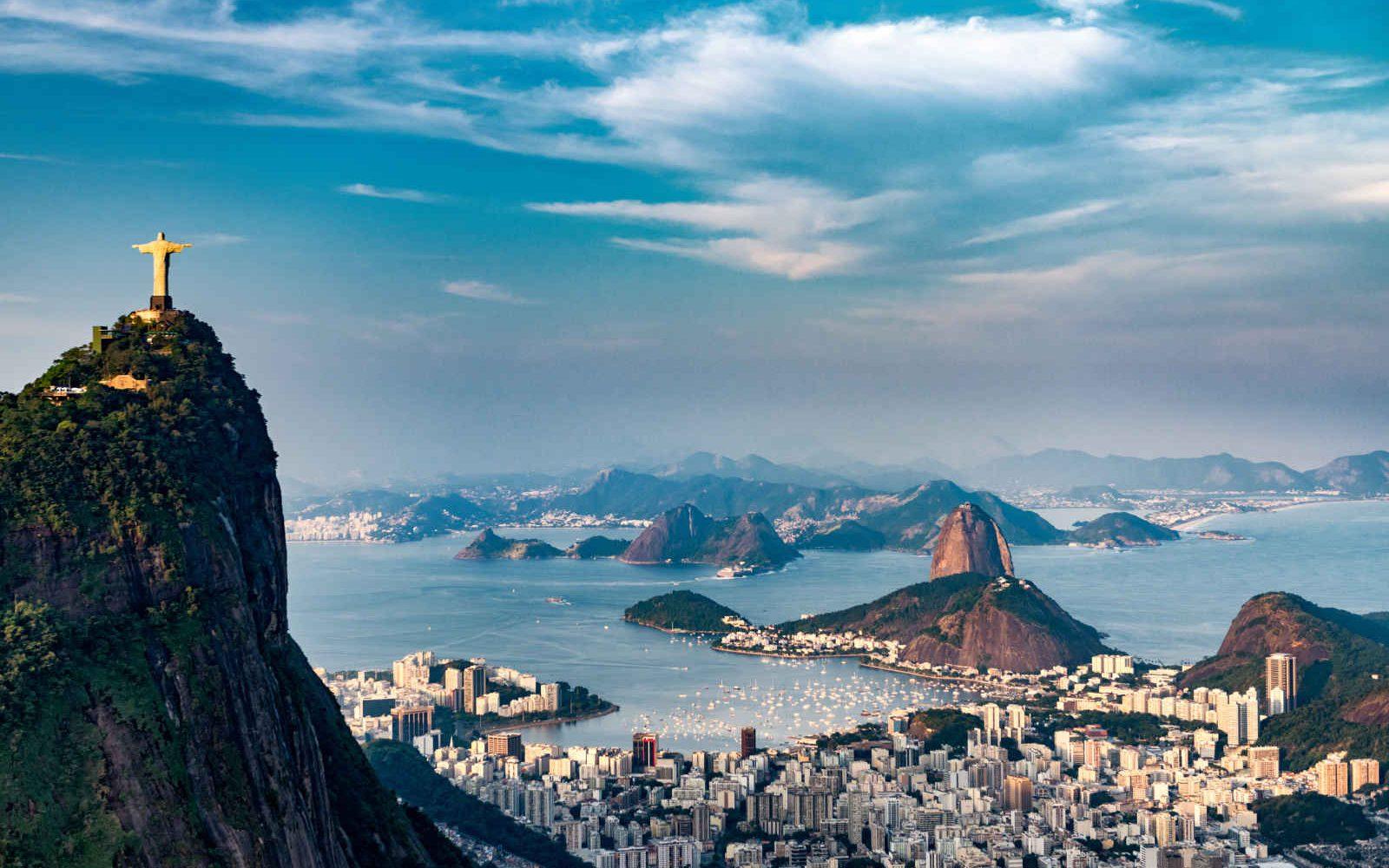 Christ rédempteur et baie de Rio de Janeiro, Brésil