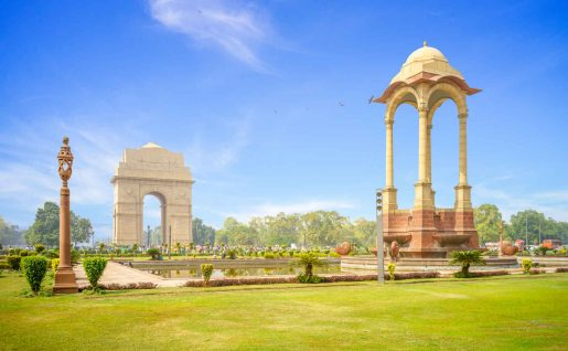India Gate et la Canopée, Delhi, Inde