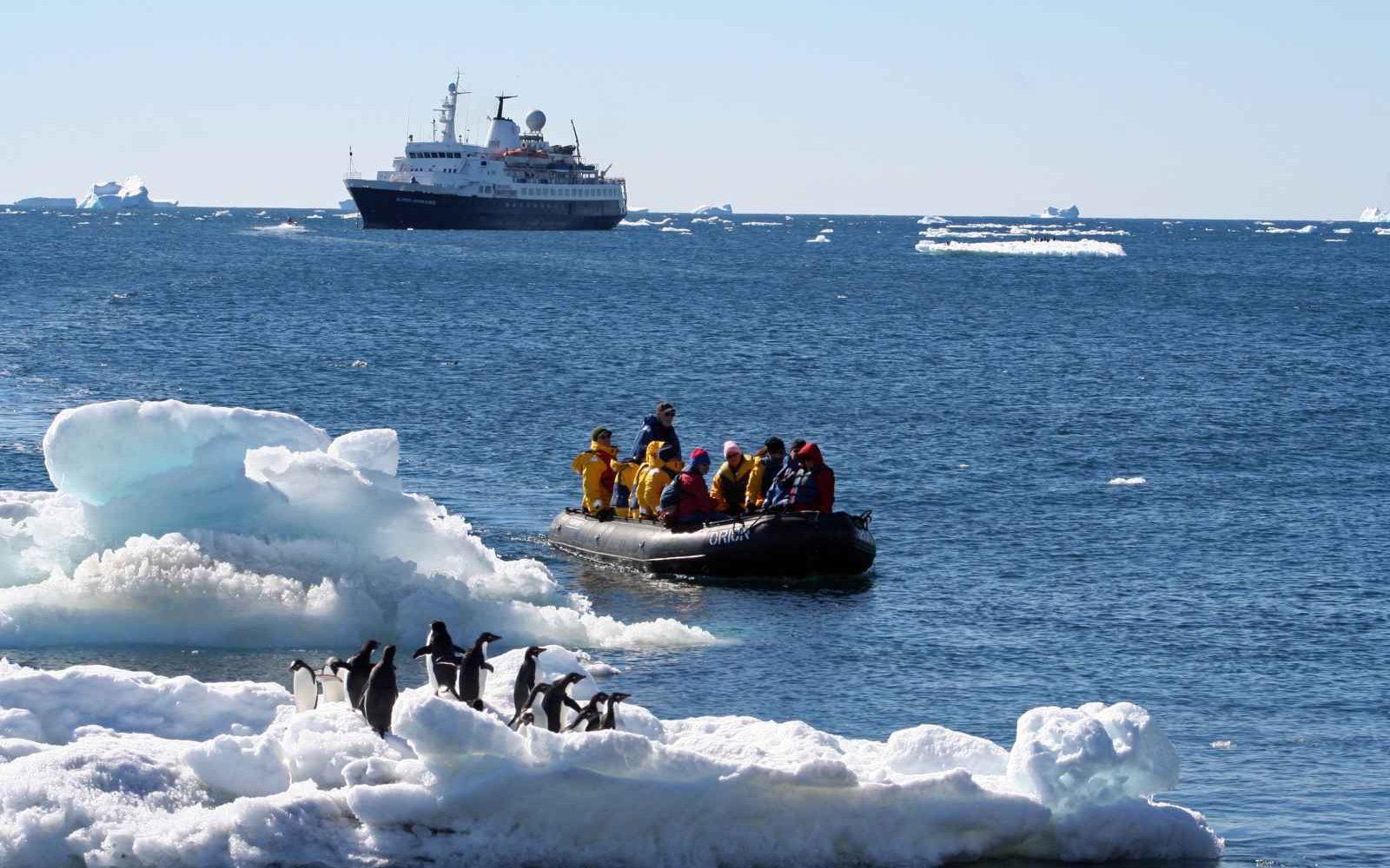 Sea Adventurer, départ en excursion, Antarctique