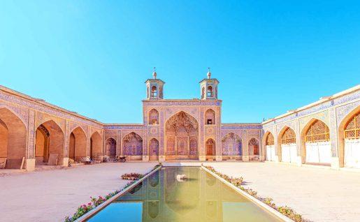 Extérieur, Mosquée Nasir Al Molk, Chiraz, Iran