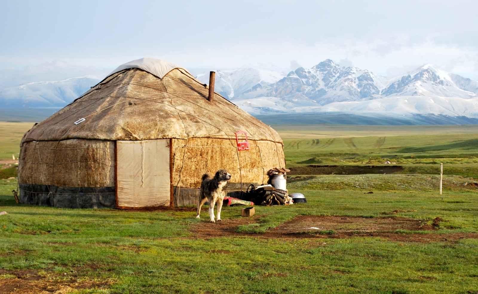 Yourte, Kirghizie
