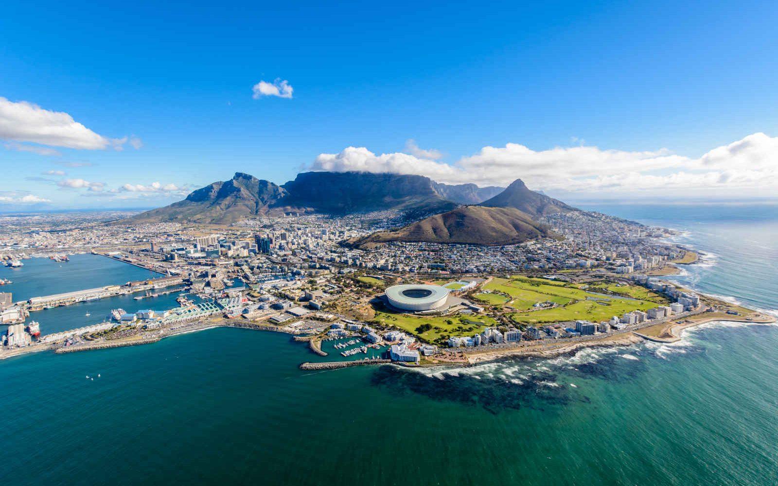Vue aérienne, Cape Town, Afrique du Sud