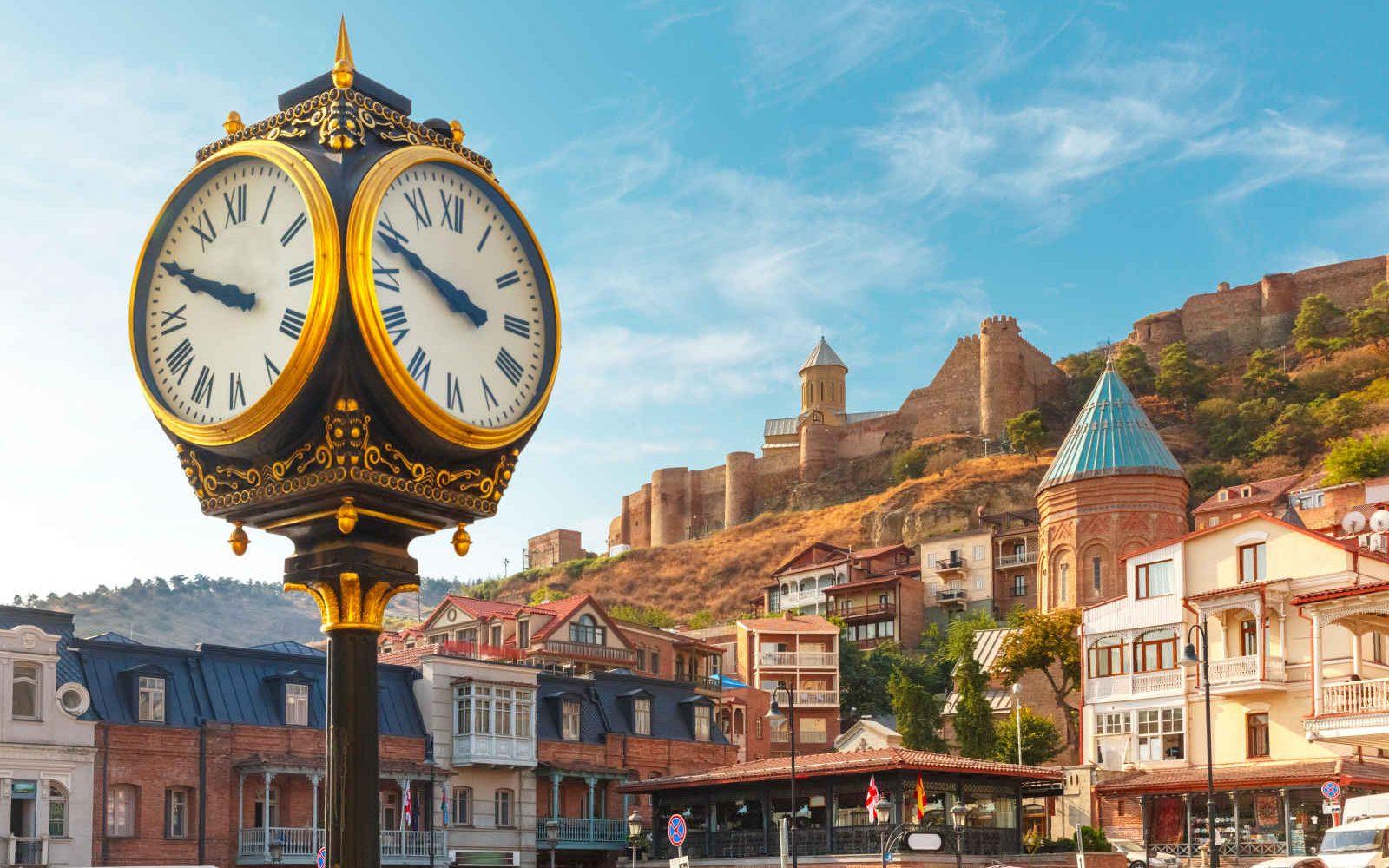 Place Meidan, Forteresse Narikala, Tbilissi Géorgie