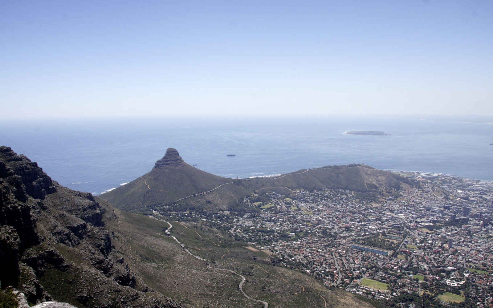 Vue de Cape Town, Lion's Head, Signal Hill & Robben Island