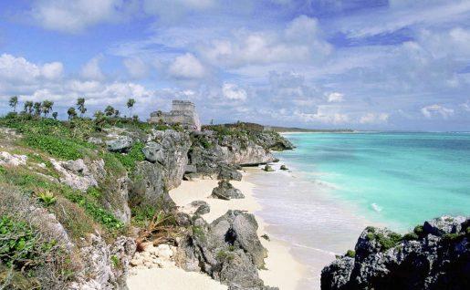 Mexico, Yucatan, Peninsula, Ruins of Tulum, Mayan