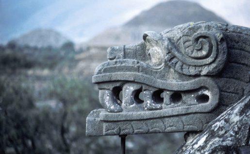Détail, Chichen Itza, Yucatan, Mexique