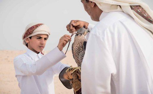 Qataries dans le désert, Qatar