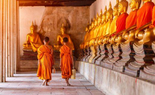 Enfants, Ayutthaya, Thaïlande