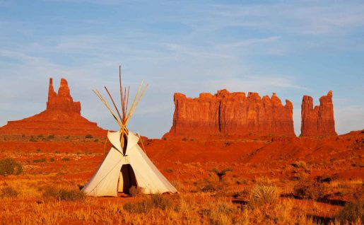 Tent in Monument valley, Utah, USA